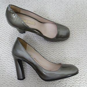 Prada Shoes Heels Womens 35.5 Silver Patent